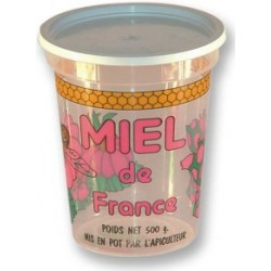 Pots  250g couleur transparent